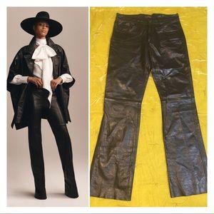 Tommy Hilfiger Black Leather Pants Runway